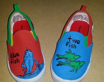 One Fish Two Fish Dr. Seuss themed shoes