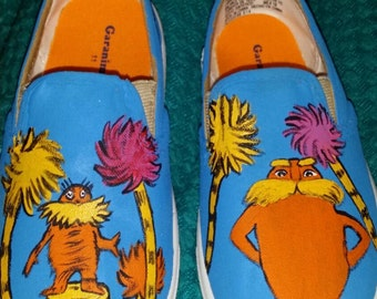 Dr. Seuss Lorax themed shoes