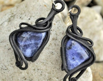 SODALITE Blue Gemstone Earrings Sodalith Sodalit Stone Semiprecious