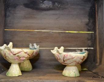 Handbuilt Clay Bird Bath or Feeder
