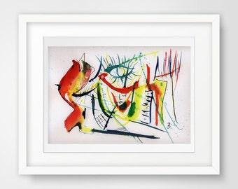 living room decor, modern room decor, modern watercolor, abstract poster art, modern poster, abstract art print