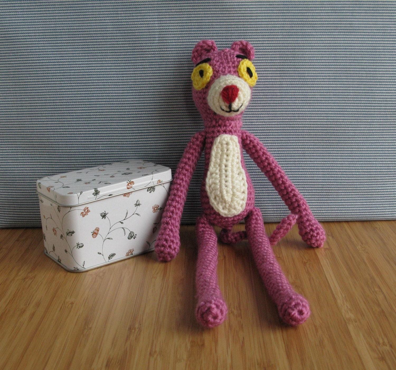 Amigurumi Free Pattern Pink Panther : Pink panther crochet amigurumi