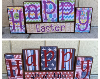 Easter blocks - reversible