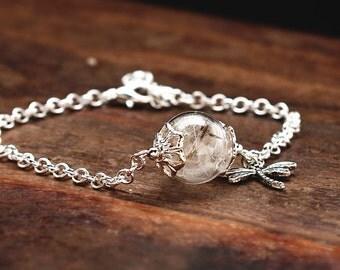 Bridesmaid Bracelet with dandelions (4 pcs Set) HZ002