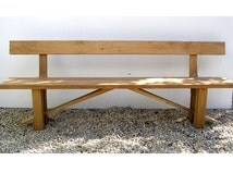 Reclaimed Oak Zen Dining Bench with Back