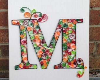 M - paper quilling