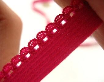 10 meters of Fine rose Picot edge light lingerie elastic trimming underwear elastic trim