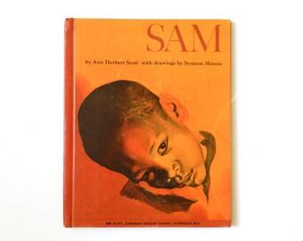 Sam by Ann Herbert Scott - illustrations by Symeon Shimin - vintage children's book 1967