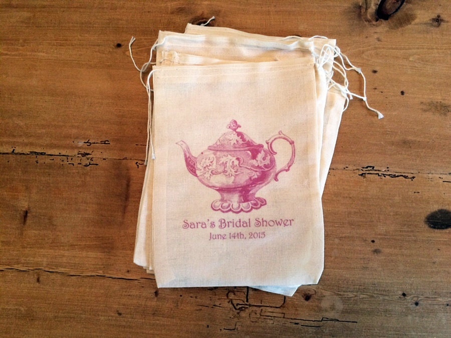 10 Teapot Wedding Bridal Shower Gift Favor Thank You Bags