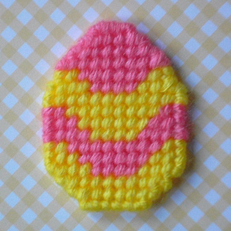 Plastic Canvas Mini Striped Easter Egg By Readysetsewbyevie