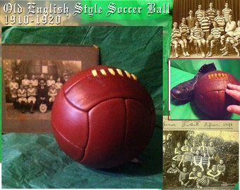 Antique World Cup  Style Leather Soccer Ball - Great for the Man Cave!