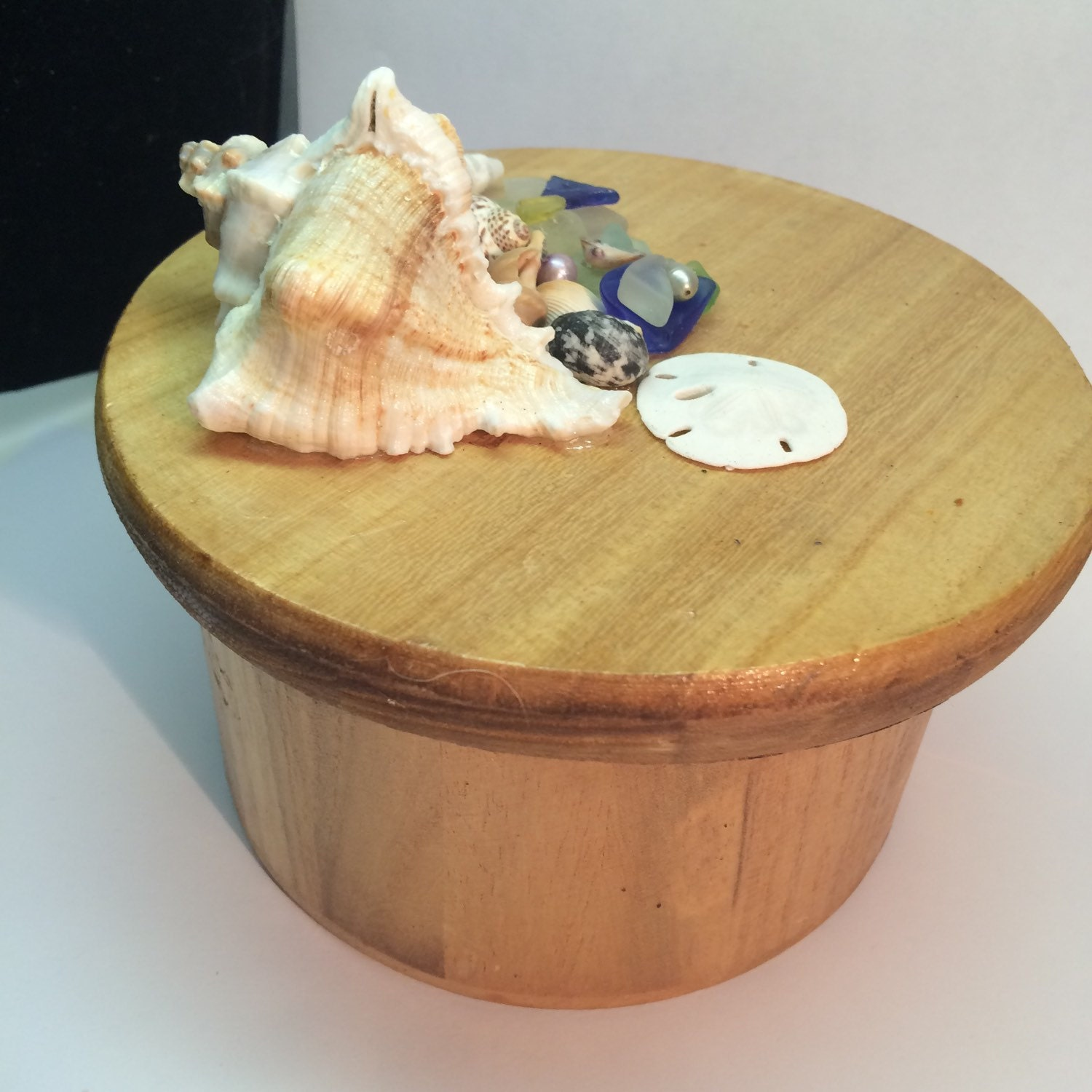 mermaid treasure box handcrafted round wooden box with texas. Black Bedroom Furniture Sets. Home Design Ideas