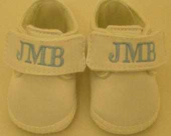 Monogrammed Baby Shoes