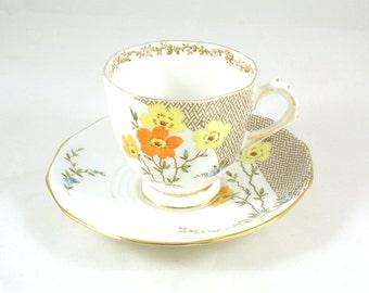 Plant Tuscan tea cup and saucer