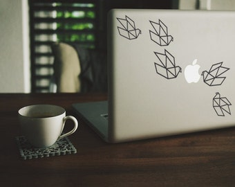 Macbook Sticker Origami Birds