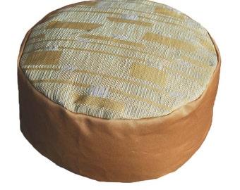 Meditation cushion. Ochre with orange ochre.