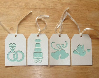 Wedding Gift Tags - Bridal Shower Gift Tags - Bridesmaid Gift Tags - Homemade Gift Tags - Hang Tags - Gift Tag Set - Set of Four (4)