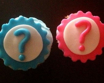 Reveal cupcake toppers