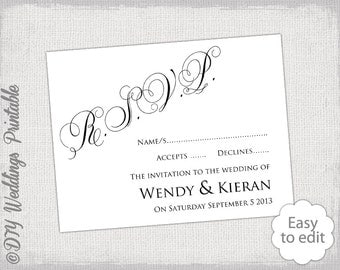 wedding rsvp templates