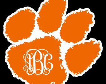 Popular Items For Clemson Tiger Paw On Etsy