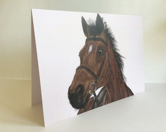 Horse Blank Card