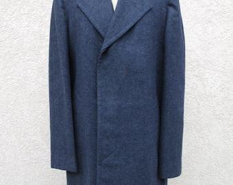 Coat; Men's Coat, Vintage Men's Coat, Dress Coat, Overcoat, Top Coat, Winter Coat