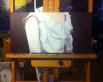 """Canvas painting - """"The Duchess's Chest"""" (Composition of Woman)"""