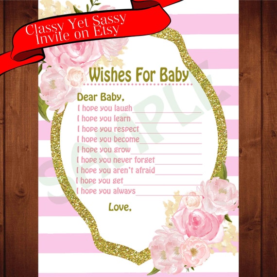 baby shower wishes for baby baby shower game instant download