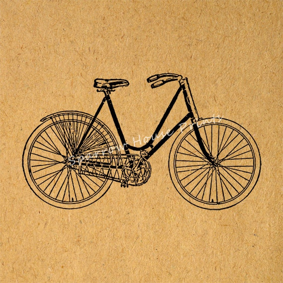 Items similar to antique bicycle wall art bike bicycle for Bicycle decorations home