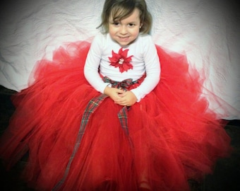 Christmas skirt for toddlers and girls, Photo shoot, Birthday, Party