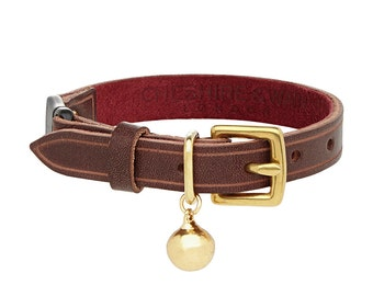Heritage Leather Cat Collar with Safety Catch