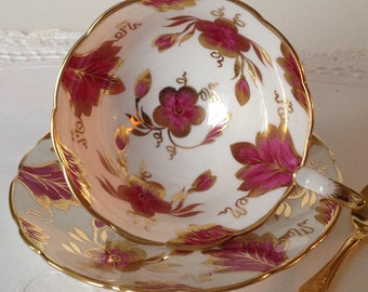 Chintz Royal Stafford China Tea cup and Saucer