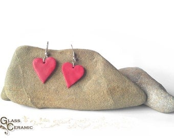 Cute Red Heart Earrings - Gift for Her - Valentine's day