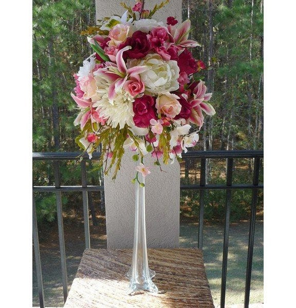 Tall Eiffel Tower Glass Vases Centerpiece By PartySpin On Etsy
