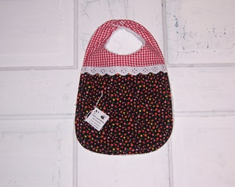 Tiny Tulip Print Dutch Baby Bib !  FREE SHIPPING !!!!!!!!