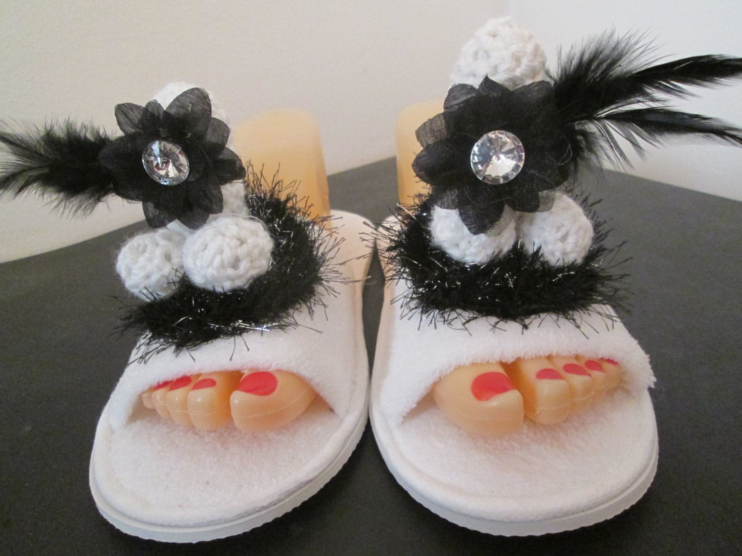 FLOWER PENIS SCUFF slipper bachelorette by badjamminmammie