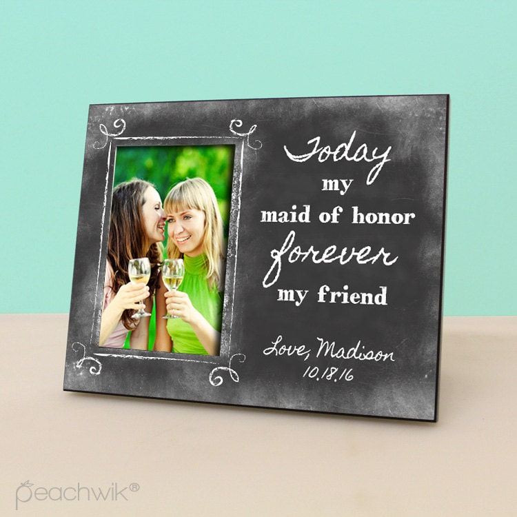 Maid Of Honor Wedding Gift Wedding Gift Photo Frame