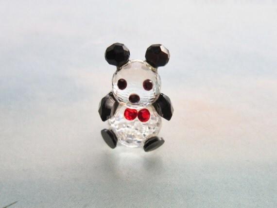 tiny panda with bow tie 3 4