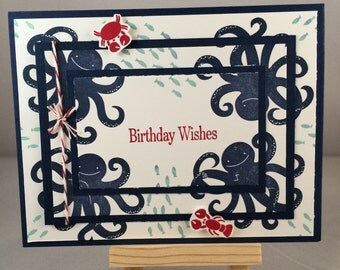 Birthday under the sea card