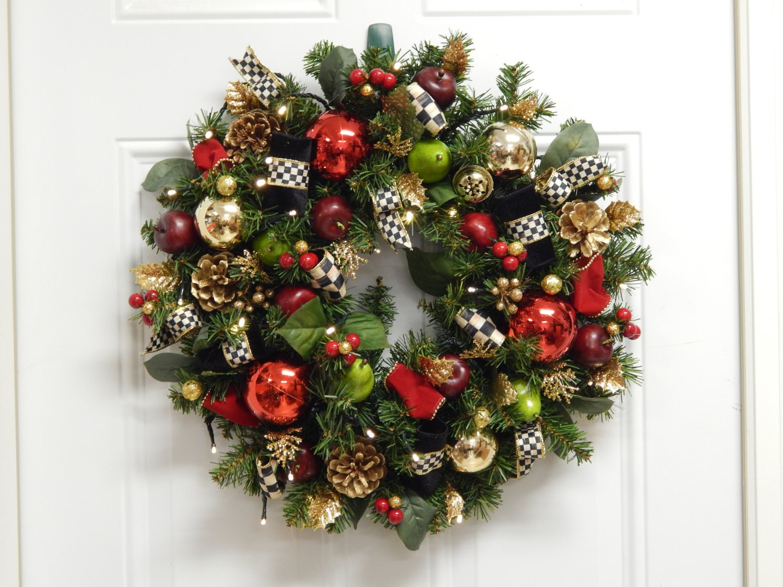 Christmas Wreath, Artificial Wreath, Wreaths, Cordless