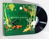 Boris Karloff vintage vinyl record - Selections From Rudyard Kipling's Just So Stories LP album OOP || 70's Children's Stories Kids OOP