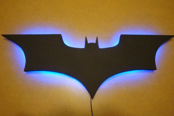 Batman Wall Light Diy : Batman Logo LED Wall Light / Night Light by OzoneReplicas on Etsy