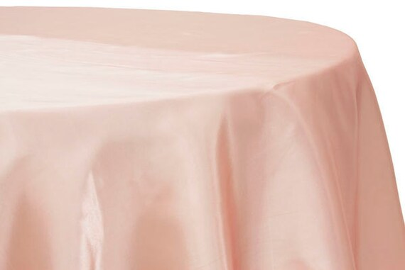 Blush Pink Satin Tablecloth Light Pink Tablecloth By