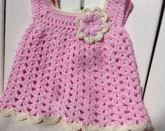 Sparkly newborn cotton crochet dress