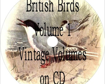 BRITISH BIRDS Vintage Book Collection on CD 27 Birds of the British Isles Antique Old Books