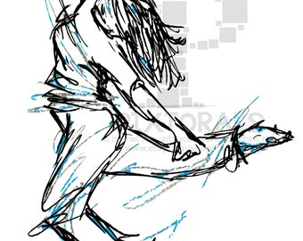 Dancer! Sketchy, EPS file, Vector and jpeg, png, Dance, Dancer Clipart, Street Dancer