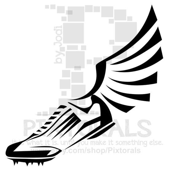 Winged Foot Clip Art 38