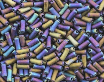 7MM Bugle Bead,Vintage Czechoslovakian Bugle Beads,Czech Bugle Beads,Item #: BUG041876