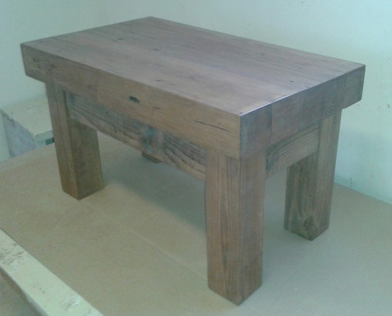 chunky rustic 4 leg coffee table 3 5 thick top by. Black Bedroom Furniture Sets. Home Design Ideas