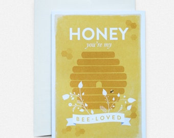 Honey and Bee Greeting Card